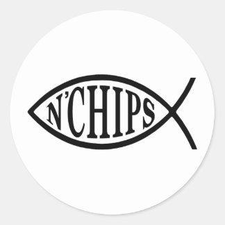Fish N' Chips Fish Round Sticker
