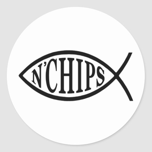 Fish N' Chips Fish Sticker