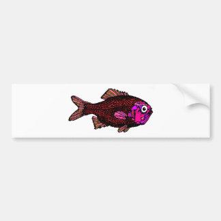 Fish Object Cartoon Animal Fun Kids Style Fashion Bumper Sticker