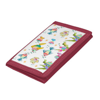 fish of colors tri-fold wallet