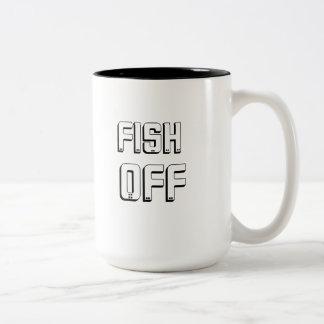 Fish off coffee mug