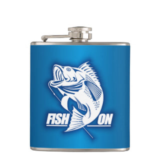 Fish On (Bass) Hip Flask
