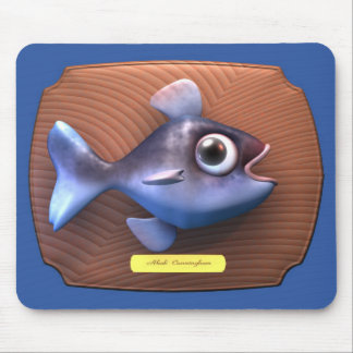 Fish on Cutting Board Mouse Mat