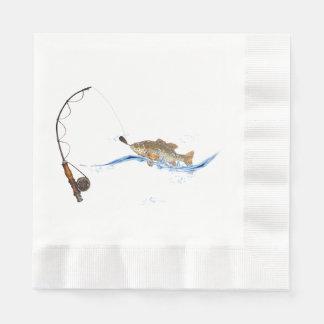 fish on fishing line paper napkins
