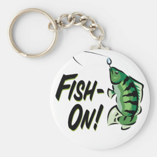Fish-On Basic Round Button Key Ring