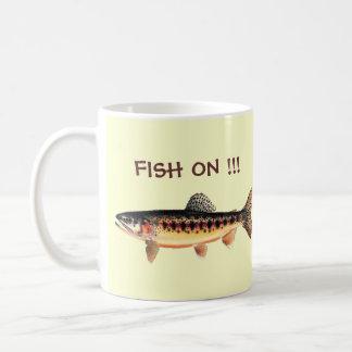 FISH ON !!! BASIC WHITE MUG