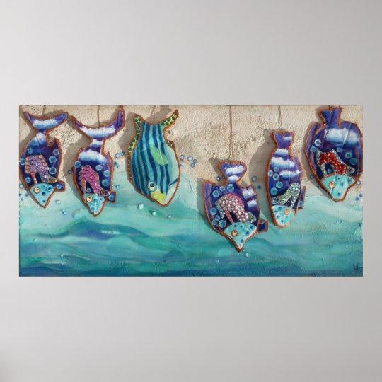Fish on sail poster