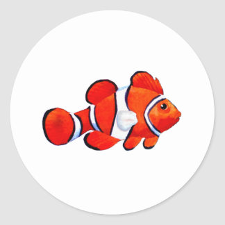 Fish Orange Vero Beach 2010 The MUSEUM Zazzle Gift Round Sticker