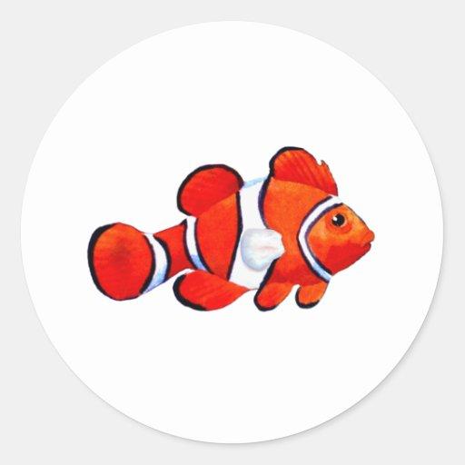Fish Orange Vero Beach 2010 The MUSEUM Zazzle Gift Round Stickers