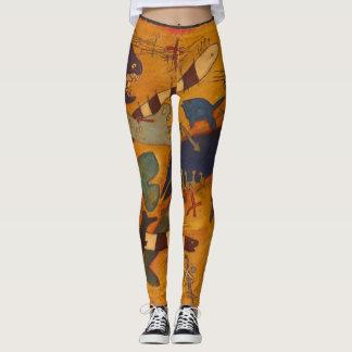 fish, original art, whimsical, weird, funny leggings