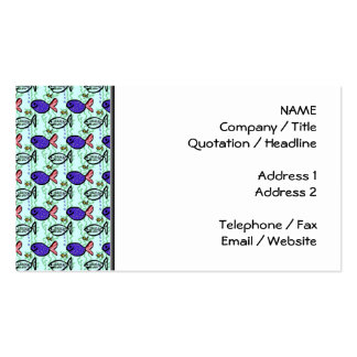 Fish Pattern. Blue Fish Ghost Fish. Pack Of Standard Business Cards