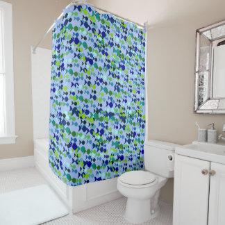Fish Pattern Blue Sea Underwater Beautiful Elegant Shower Curtain