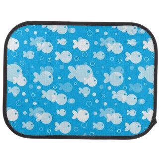 fish pattern car mat