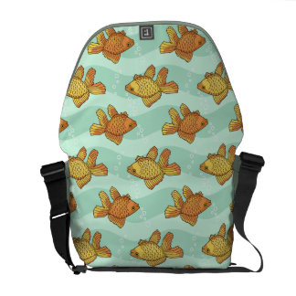 Fish-pattern Courier Bag
