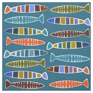 Fish Pattern custom color fabric
