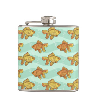 Fish-pattern Hip Flask