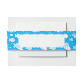 fish pattern invitation belly band