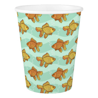 Fish-pattern Paper Cup