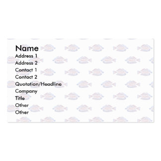 Fish Pattern. Red Line Rainbowfish. Business Cards