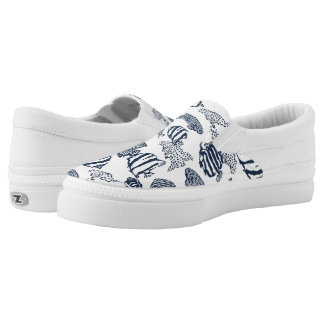 fish pattern Slip-On shoes