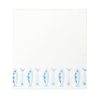 Fish pattern - various colours Notepad