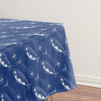 Fish pattern(white)Tablecloth, various colours Tablecloth