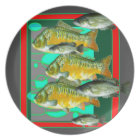 FISH PATTERNS ART PLATE