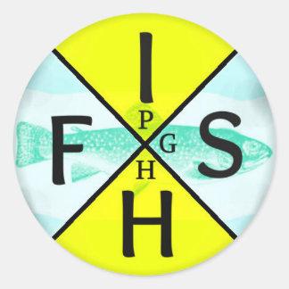 Fish PGH Round Sticker