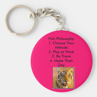 Fish Philosophy Basic Round Button Key Ring