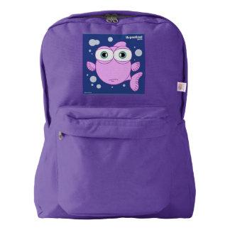 Fish(Pink) Backpack, Amethyst Backpack