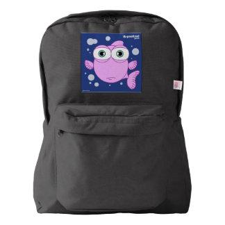Fish(Pink) Backpack, Black Backpack