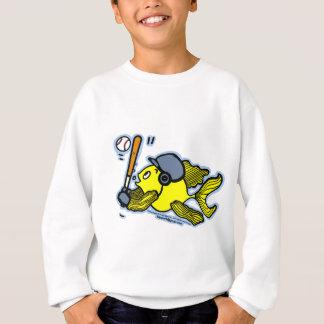 Fish Playing Baseball - Cute Funny Cartoon Sweatshirt