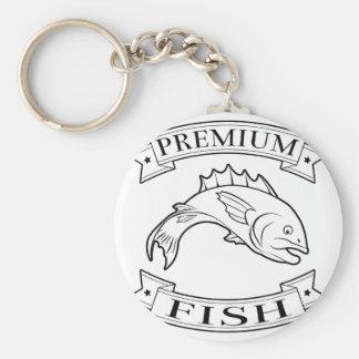 Fish premium food label key chain