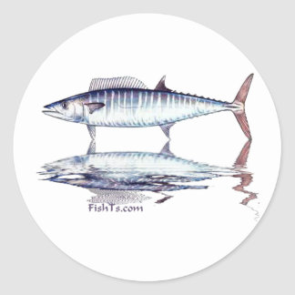 Fish Reflections Collection of Fish Shirts Round Sticker