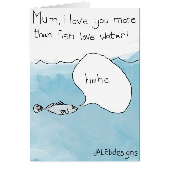 Fish related Happy Mothers Day Card
