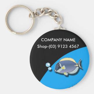 Fish Round Basic Round Button Key Ring