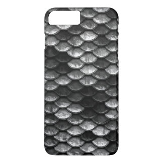 Fish Scales Pattern Grey & Black Shades iPhone 8 Plus/7 Plus Case