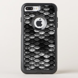 Fish Scales Pattern Grey & Black Shades OtterBox Commuter iPhone 8 Plus/7 Plus Case