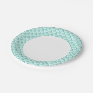 Fish Scales Pattern Paper Plate