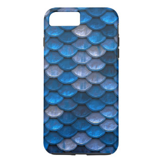 Fish Scales Pattern Shimmer Blues iPhone 8 Plus/7 Plus Case