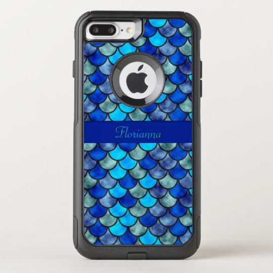 Fish Scales Pattern Shimmer Effect Personalise OtterBox Commuter