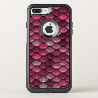 Fish Scales Pattern Shimmer Pinks OtterBox Commuter iPhone 8 Plus/7 Plus Case