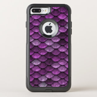 Fish Scales Pattern Shimmer Purples OtterBox Commuter iPhone 8 Plus/7 Plus Case