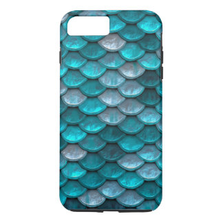 Fish Scales Pattern Shimmer Teals iPhone 8 Plus/7 Plus Case