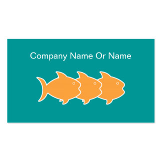 Fish Silhouette Business Cards