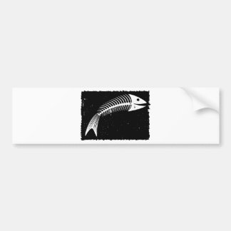 Fish Skeleton Bumper Sticker