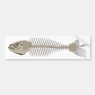 Fish Skeleton Bumper Sticker