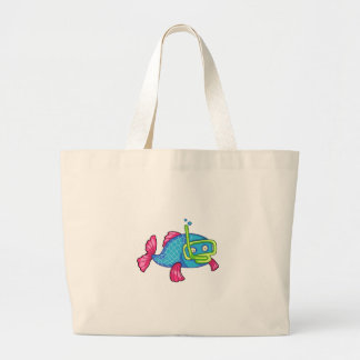 FISH SNORKELING CANVAS BAGS