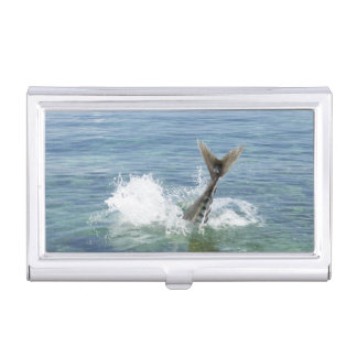 Fish splashing in the sea business card holder