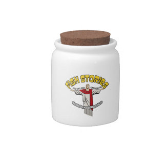 Fish stories candy jars